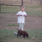 Macie playing with Taylor 2005